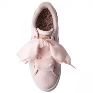 PUMA Basket Heart Canvas 366495 02 Pearl